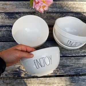 Rae Dunn ENJOY set of 6 bowls